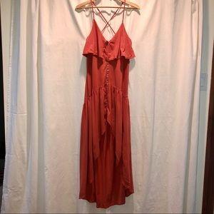 Free People / FP Beach hi-lo maxi dress